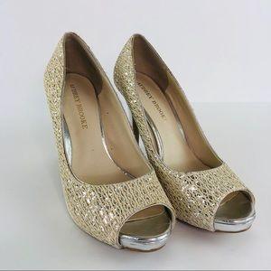 Audrey Brooke Peep Toe High Heels